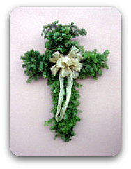 Holiday Wreath Christmas Cross